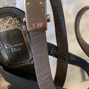 Dior Shoes - Christian Dior strappy heels noir/marine SZ. 37